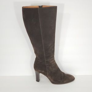 J Crew Women's Brown Suede Leather Tall Boots